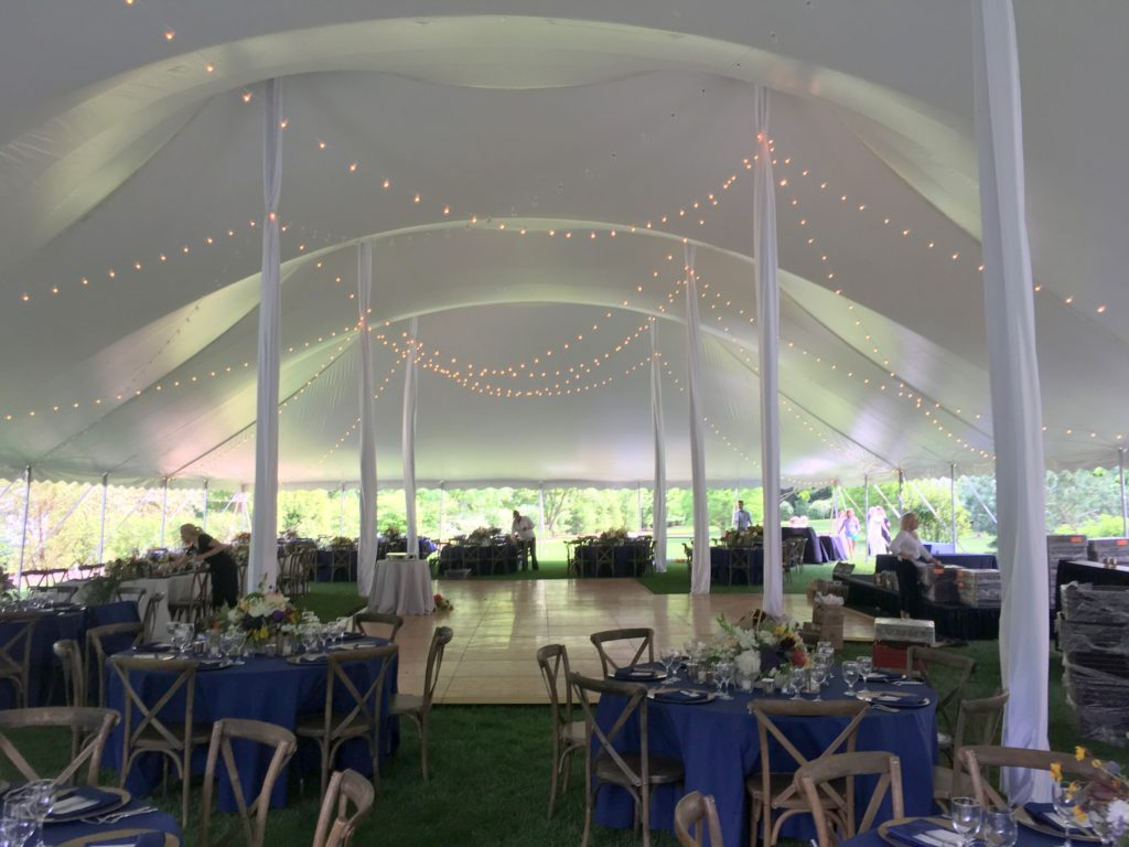 wedding tent style high peak wedding tent with string lights